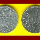 AUSTRIA 1964 10 GROSCHEN COIN KM#2878 Europe - Face value on both sides