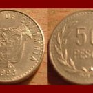 COLOMBIA 1993 50 PESOS COIN KM#283.1 South America - Vulture