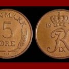 DENMARK 1972 5 ORE BRONZE COIN KM#848.2 Europe - King Frederik IX