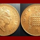 England United Kingdom Great Britain UK 1996 1 ONE PENNY COIN KM#935a Crowned Porticullis