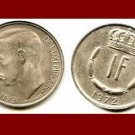 LUXEMBOURG 1972 1 FRANC COIN KM#55 Europe - LOW MINTAGE!