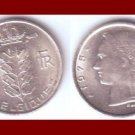 BELGIUM 1975 1 FRANC BELGIQUE COIN KM#142.1 Europe - French Legend