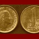 NETHERLANDS 1963 1 CENT BRONZE COIN KM#180 Europe Queen Juliana