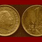 NETHERLANDS 1969 1 CENT BRONZE COIN KM#180 Europe Queen Juliana