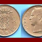 BELGIUM 1975 1 FRANC BELGIE COIN KM#143.1 Europe - Dutch Legend