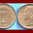 BELGIUM 1977 1 FRANC BELGIE COIN KM#143.1 Europe - Dutch Legend