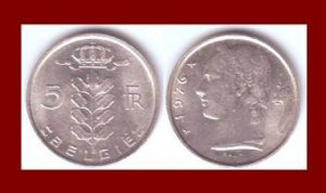 BELGIUM 1976 5 FRANCS BELGIE COIN KM#135.1 Europe - Dutch Legend