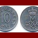 DENMARK 1979 10 ORE COIN KM#860.2 Europe - Queen Margrethe II - Crowned M