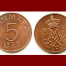 DENMARK 1986 5 ORE BRONZE COIN KM#859.3 Europe - Queen Margrethe II