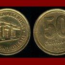 ARGENTINA 1994 50 CENTAVOS BRASS COIN KM#86 South America - Tucuman