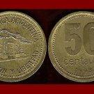ARGENTINA 1993 50 CENTAVOS BRASS COIN KM#86 South America - Tucuman