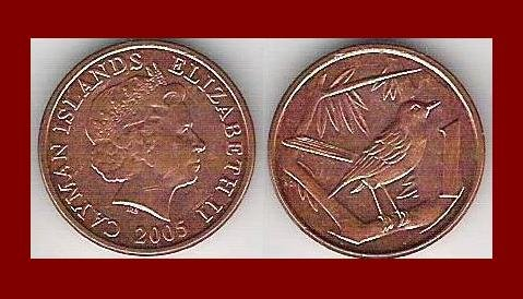 CAYMAN ISLANDS 2005 1 CENT COIN KM#131 Caribbean - UNC AU BEAUTIFUL!