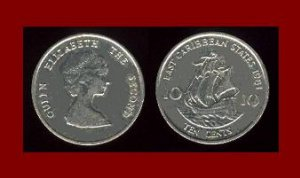 EAST CARIBBEAN STATES 1991 10 CENTS COIN KM#4 Galleon Ship