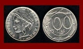 ITALY 1998 100 LIRE COIN KM#159 Europe - XF BEAUTIFUL!