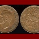 NEW ZEALAND 1946 1 PENNY BRONZE COIN KM#13 Oceana - EMPEROR GEORGE VI