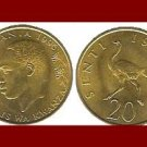 TANZANIA 1996 20 SENTI COIN KM#2 - Africa Swahili - Running Ostrich