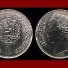 VENEZUELA 1990 (mm) 1 BOLIVAR COIN Y#52a.2 South America - XF BEAUTIFUL!