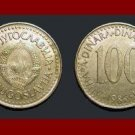 YUGOSLAVIA 1986 100 DINARA COIN KM#114 Europe - AU BEAUTIFUL!