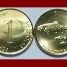 SLOVENIA 2000 1 TOLAR BRASS COIN KM#4 Europe - Salmon - XF BEAUTIFUL!