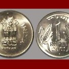 INDIA 2004 1 RUPEE COIN KM#92.2 - UNC AU BEAUTIFUL!