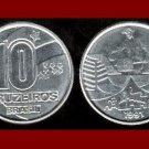 BRAZIL 1991 10 CRUZEIROS COIN KM#619 South America - UNC AU BEAUTIFUL!