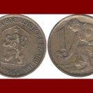 CZECHOSLOVAKIA 1963 1 KORUNA COIN KM#50 Europe