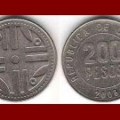 COLOMBIA 2008 200 PESOS COIN KM#287 South America - Quimbaya Artwork