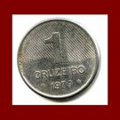 BRAZIL 1979 1 CRUZEIRO COIN KM#590 South America - XF - LOW MINTAGE