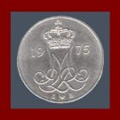 DENMARK 1975 10 ORE COIN KM#860.1 Europe - Queen Margrethe II - Crowned M