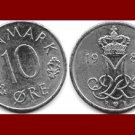 DENMARK 1987 10 ORE COIN KM#860.3 Europe - Queen Margrethe II - Crowned M