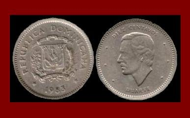 DOMINICAN REPUBLIC 1983 10 CENTAVOS COMMEMORATIVE COIN KM#60 Caribbean