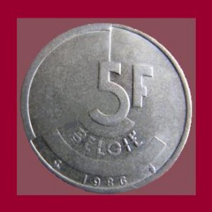 BELGIUM 1986 5 FRANCS BELGIE COIN KM#164 Europe - Dutch Legend