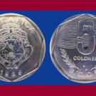 COSTA RICA 1989 5 COLONES COIN KM#214 Central America - BU - Beautiful!