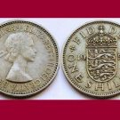 England Great Britain UK 1953 1 One Shilling Coin KM#890 - English Coat of Arms