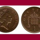 England Great Britain UK 1995 1 One Penny Coin KM#935a