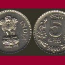 INDIA 2000 5 RUPEES COIN KM#154