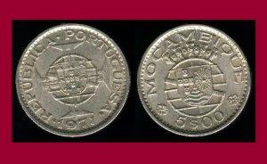 MOZAMBIQUE 1971 5 ESCUDOS COIN KM#86 Africa - Portuguese Republic