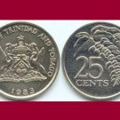 TRINIDAD AND TOBAGO 1983 25 CENTS COIN KM#32 Caribbean - Chaconia Flowers