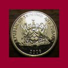 TRINIDAD AND TOBAGO 2006 25 CENTS COIN KM#32 Caribbean - BU - BEAUTIFUL!