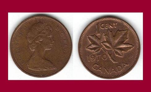CANADA 1970 1 CENT COIN KM#59.1 North America - Maple Leaf