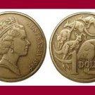 AUSTRALIA 1985 1 DOLLAR COIN KM#84 - Kangaroos
