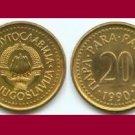 YUGOSLAVIA 1990 20 PARA COIN KM#140 Europe