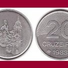 BRAZIL 1983 20 CRUZEIROS COIN KM#593.1 South America - XF Very Shiny! Beautiful!