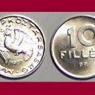 HUNGARY 1987 10 FILLER COIN KM#572 Europe - XF - Very Shiny! Beautiful!