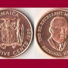 JAMAICA 1995 25 CENTS COIN KM#167 Caribbean - BU - Very Shiny! Beautiful!