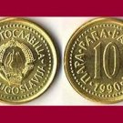 YUGOSLAVIA 1990 10 PARA COIN KM#139 Europe - XF - Very Shiny! Beautiful!