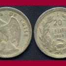 CHILE 1938 20 CENTAVOS COIN KM#167.3 South America - Condor