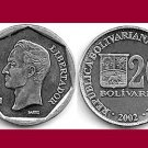 VENEZUELA  2002 20 Bolivares COIN Y#81 South America - UNC - BEAUTIFUL!