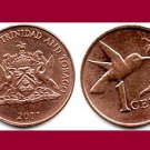 TRINIDAD AND TOBAGO 2011 1 Cent Bronze Coin KM#29 Caribbean - UNC - BEAUTIFUL!