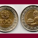 PORTUGAL 1989 100 ESCUDOS Bi-Metallic COIN KM#645 Europe